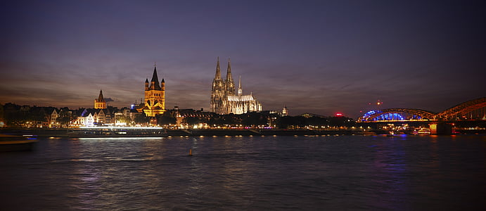 Dom, Cologne, Nhà thờ, Nhà thờ Cologne cathedral, Cologne trên sông rhine, Landmark, sông Rhine