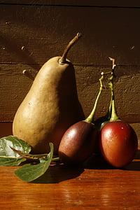 αχλάδι, φρούτα, ζουμερά, τροφίμων, ώριμα, υγιεινή, φρέσκο