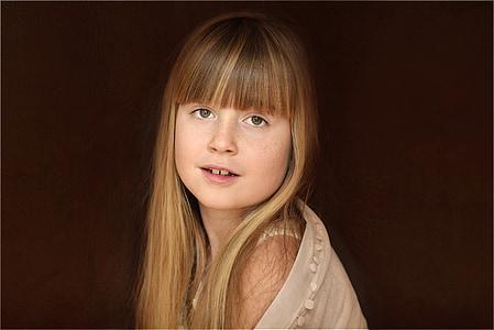 dítě, Děvče, obličej, Blondýna, Pěkné, portrét