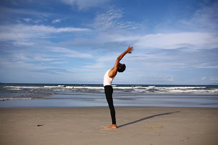 jóga, indiai, jóga srác, meditáció, szimbólum, test, egészségügyi