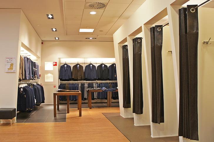 roba, botiga, jaqueta, vestuari, sala de muntatge