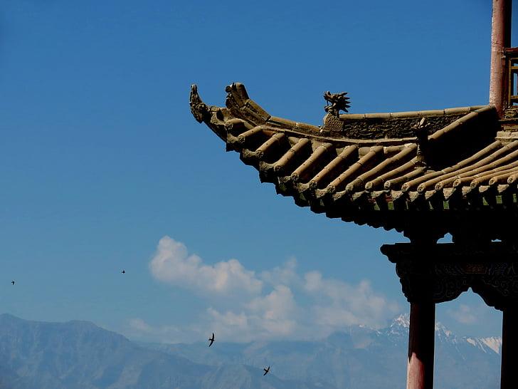 Chiny wiatr, dekoracje, antyczny architektura, Architektura, Azja, kultur, Świątynia - budynek