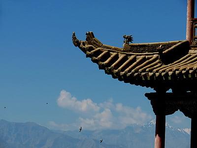 Ķīna vējš, ainava, senā arhitektūra, arhitektūra, Āzija, kultūras, templis - Building