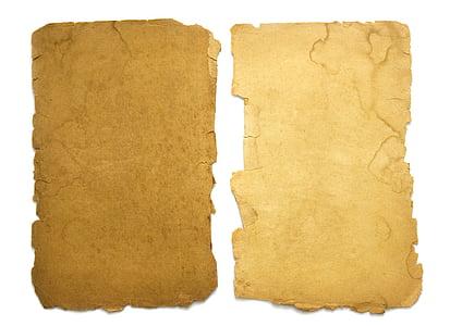 old, paper, background, vintage, torn, dirty, damaged