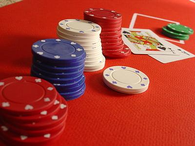 póker, Blackjack, zseton, kártyák, kaszinó, szerencsejáték, játék
