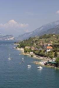 Llac, Garda, l'aigua, embarcacions, Mar, muntanya, natura