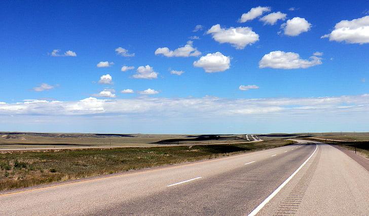 도, 미국, 고속도로, 끝 없는