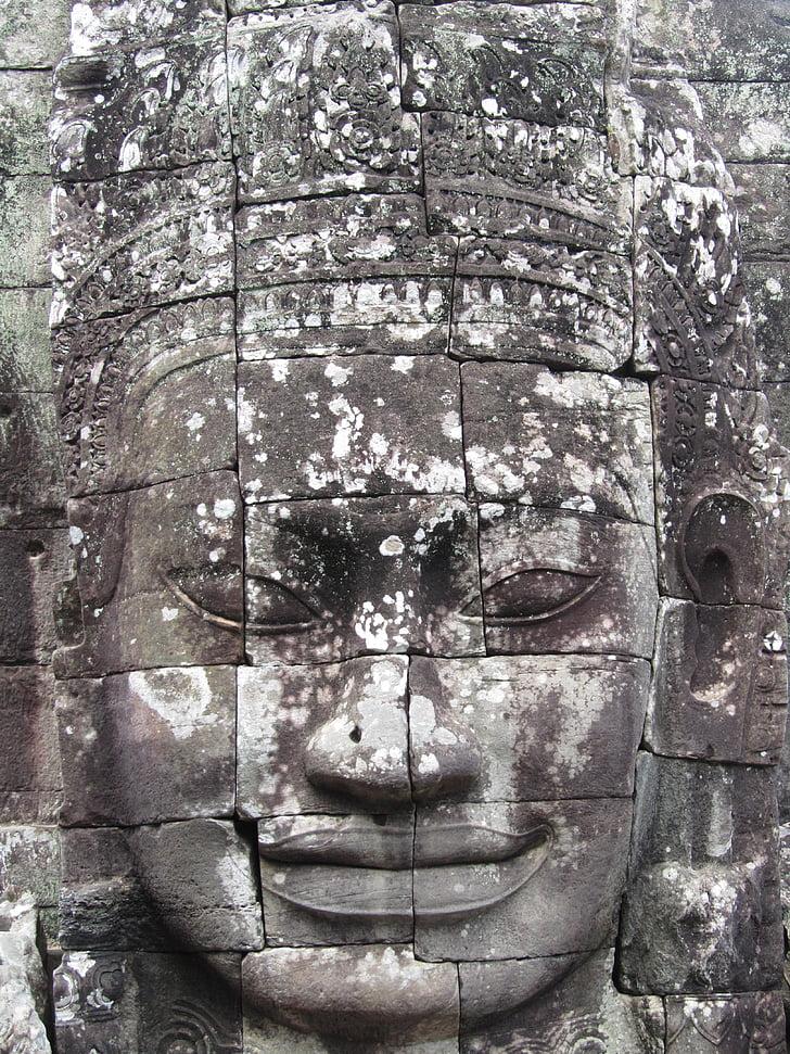 главата, Камбоджа, angkorwhat