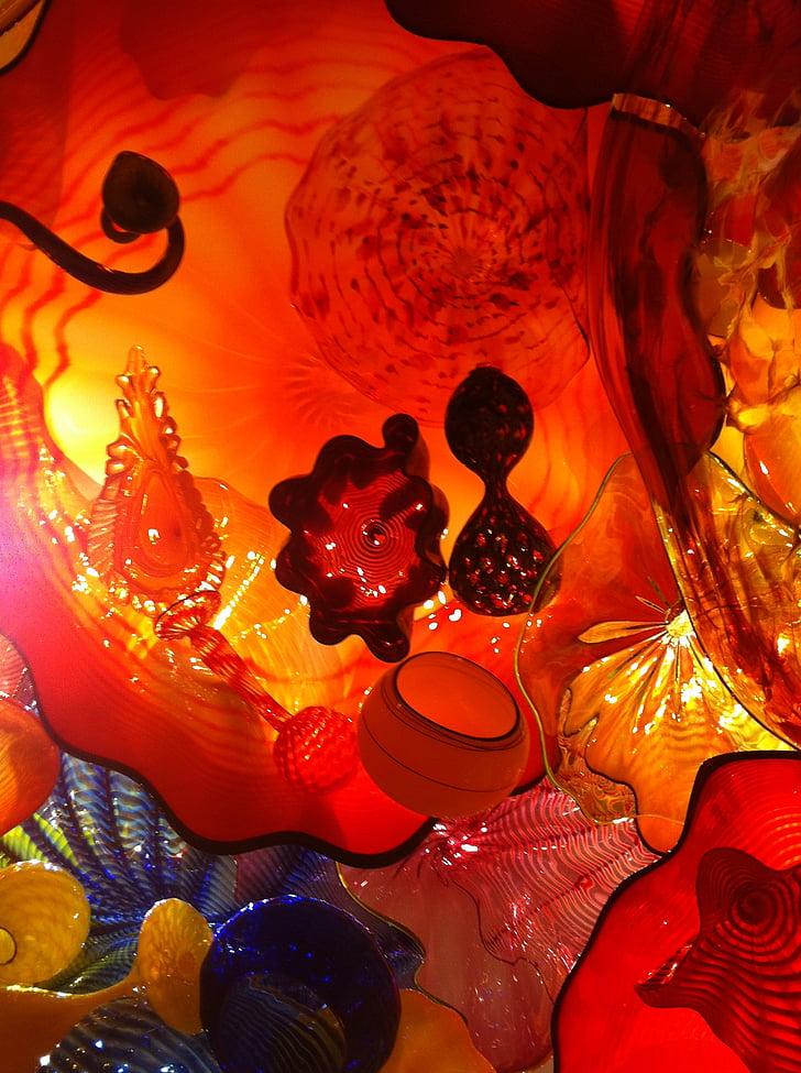 vidre, vermell, translúcid, líquid, disseny, taronja, patró