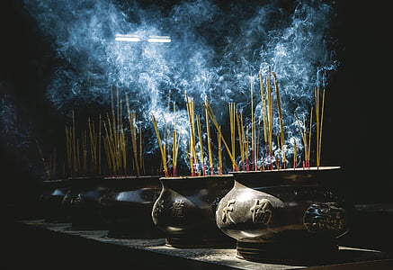 wierook, potten, rook, Oosterse, cultuur, aardewerk, branden