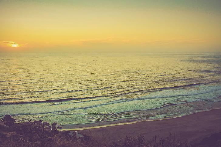 mar, céu, pôr do sol, paisagem, natureza, Chile, costa chilena