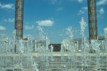 suihkulähde, Stadium, pilari, Seis, vesi