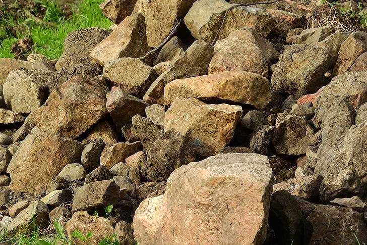 un tas de pierres, pierres, pile, Pierre