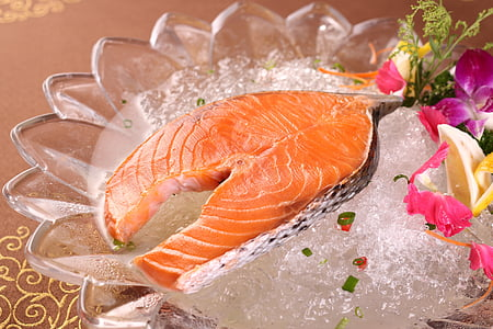 seafood, fresh, salmon, food, gourmet, freshness, lemon
