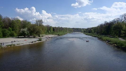 zoològic, Isar, riu, l'aigua, Munic