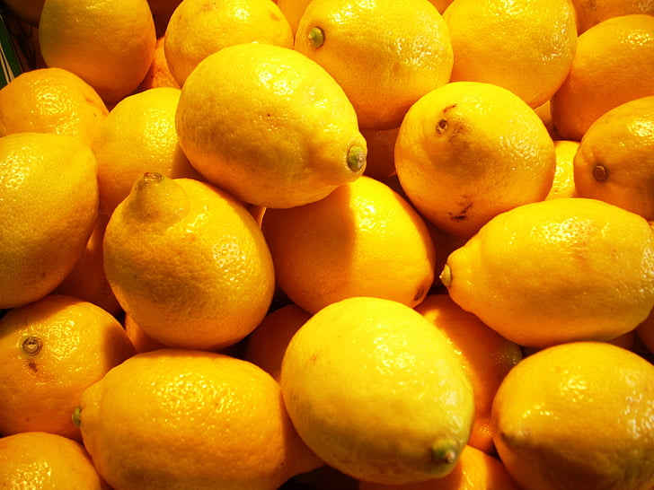 llimona, llimones, cítrics, fruita, groc, Agra, aliments i begudes