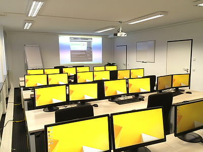 classroom, computers, education, class, education technology, learning, room