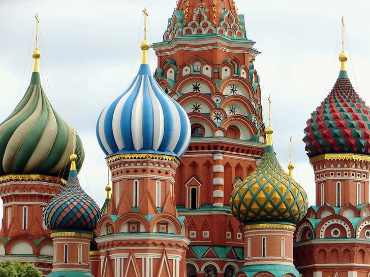 Rusko, Moskva, kostol, St-basile, Saint basil's cathedral, náboženstvo, žiarovky