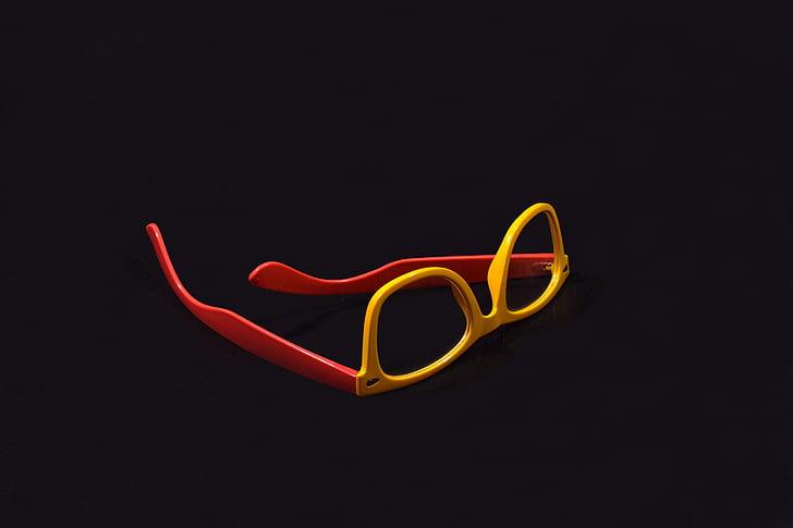 ulleres, pes de producte, producte, tir, reflexió, fons blanc, vermell