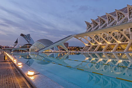 Valencia, Hispaania, Calatrava, Sunset, City of arts, City Teaduste, arhitektuur