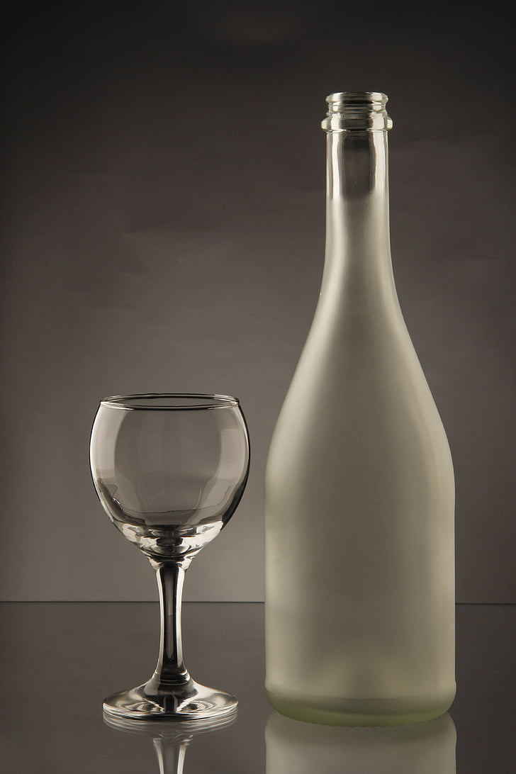 glass, the bottle, bottle, drink, alcohol, wineglass, drinking Glass