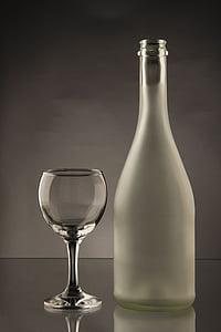 vetro, la bottiglia, bottiglia, bere, alcol, bicchiere di vino, vetro bevente