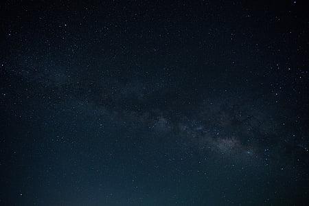 astronomie, sombre, soirée, incandescent, nuit, nightsky, Scenic