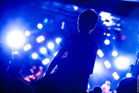 audience, band, blur, celebration, concert, crowd, energy