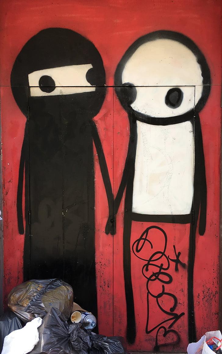 graffiti, Street art, Art, színes, doboz, graffiti, piros