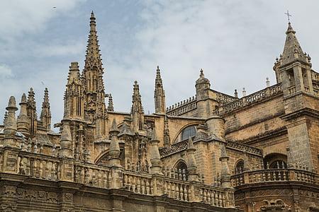 Dom, Sevilla, templom, Nevezetességek, székesegyház, Andalúzia, Spanyolország
