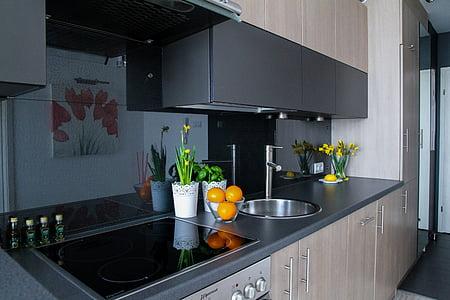 Apartamentai, kambarys, namas, gyvenamųjų namų interjeras, interjero dizainas, apdaila, jaukus butas
