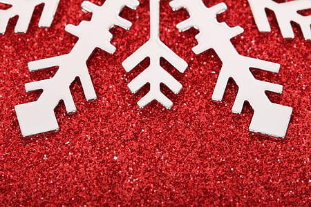 Kalėdos, šaldymo, apdaila, sluoksniuoti, Blizgučiai, ledo, makro