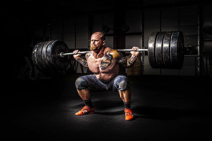 home, persona, poder, força, fort, gimnàs, cos