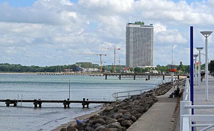 Travemünde, järve promenaad, spaa, rannikul, Läänemere, kalda kaitse, rahnud