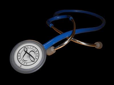 stethoscoop, arts, om te luisteren, controle, meten, pensioen, diagnose