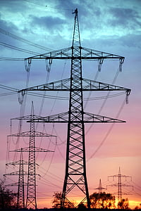 current, reinforce, power line, electricity, energy, high voltage, power poles