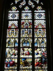 kerk, venster, kerk venster, oude venster, Glasraam, geloof, Bijbel