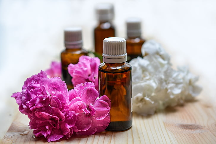 essential oils, aromatherapy, spa, oil, essential, bottle, care