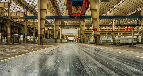indústria, llocs perduts, fàbrica, producció, línia de muntatge, treball, planta industrial