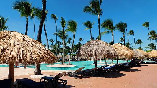 Caraibe, piscină, turcoaz, val, plajă, apa, albastru