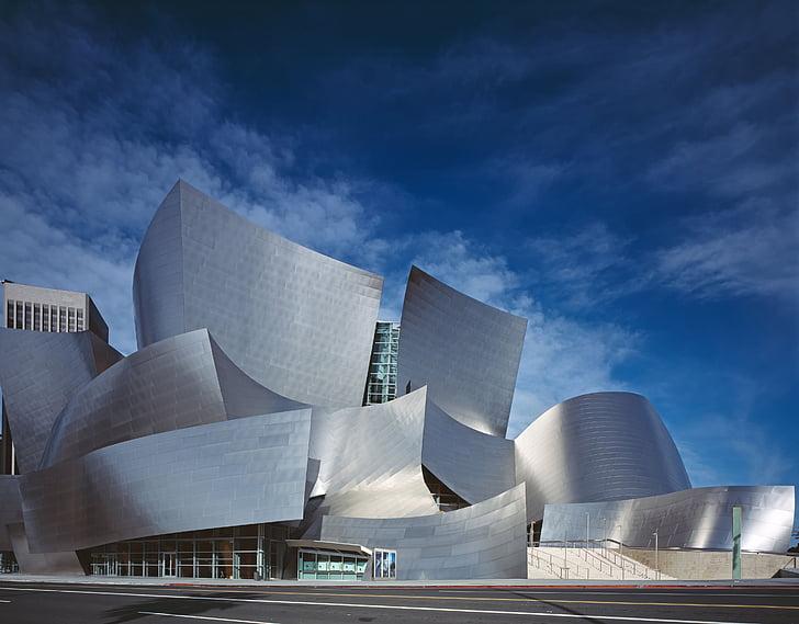 Walt disney concert hall, arhitektuur, hoone, moodsa kunsti, Art, kaasaegne