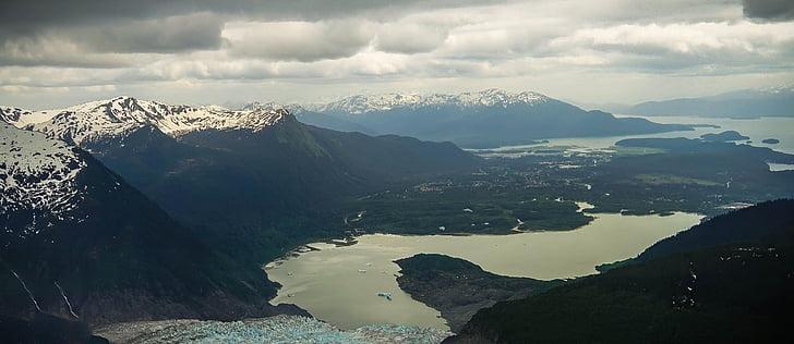 Alaska, Glacera de Mendenhall, escèniques, paisatge, muntanyes