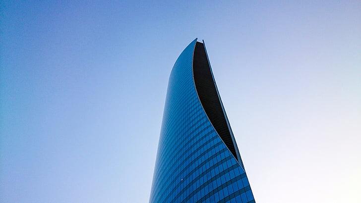 gratacels, disseny d'arquitectura, arquitectura, Oficina, alta, exterior d'edifici oficina, brillant