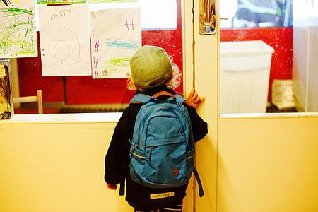 entry to school, schoolboy, school, primary school, schooling, satchel, nursery