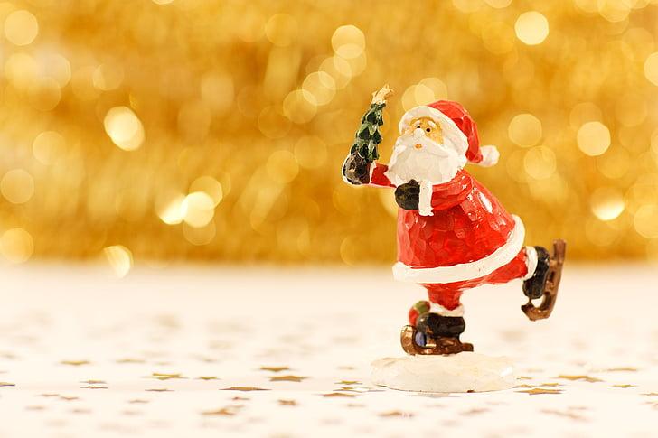 Bokeh, pidu, jõulud, maasika, teenetemärgi, figuriin, Santa