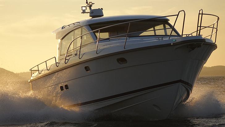 motoryacht, Nimbus, Boot, nautiska fartyg, transport, havet, motorbåt