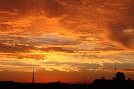 Alba, cel, núvols, morgenstimmung, cels, natura, morgenrot