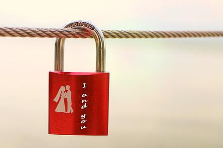 tanca de seguretat, símbol, l'amor, connexió, vermell, sentiments, emoció
