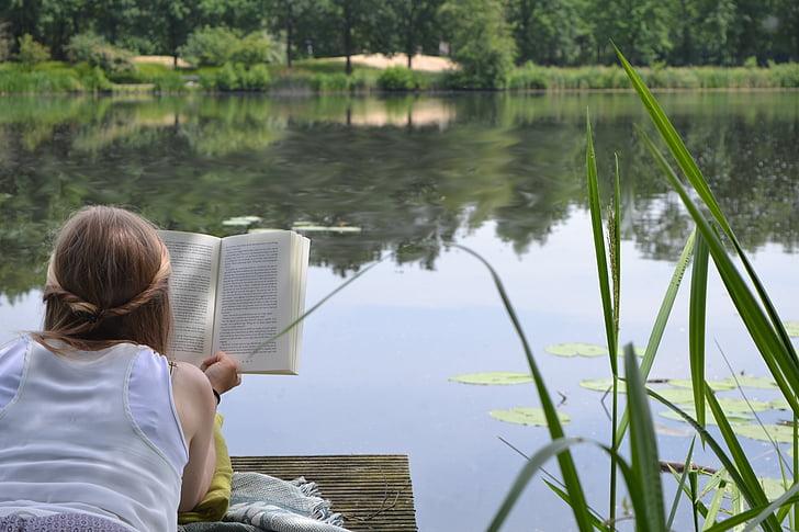 dona, lectura, femella, llibre, noia, llegir, estil de vida