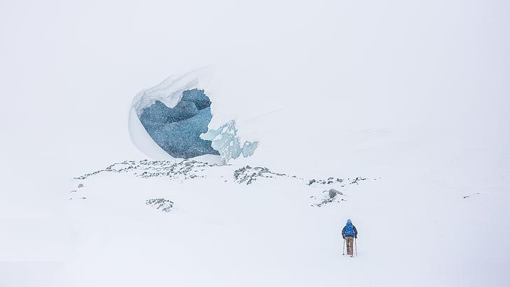 adventure, cold, mountain, mountaineer, snow, winter